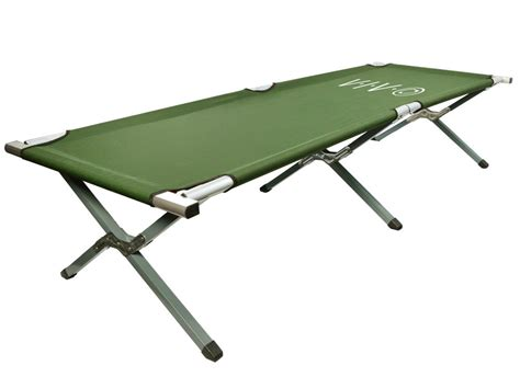 bed cot vivo cot green fold up bed folding portable for cing style w bag ebay