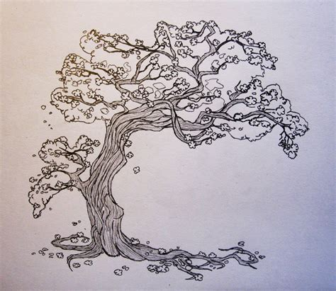 sketched tree cherry tree sketch by gonzagator on deviantart