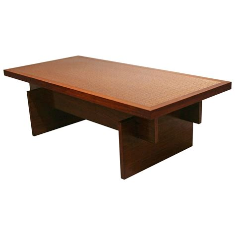 vintage rosewood and copper coffee table at 1stdibs