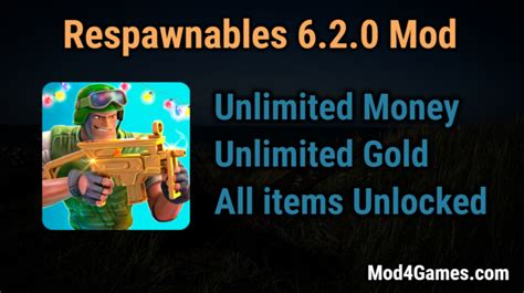 game mod offline unlimited respawnables 6 2 0 hacked game mod apk free with offline