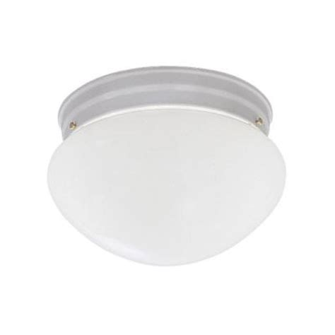 hton bay globe collection 2 light solid white ceiling