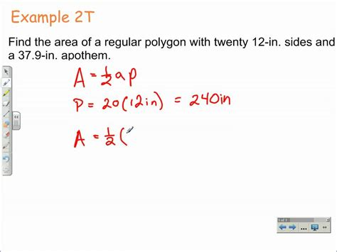 How Do You Find On How To Find The Area Of Regular Polygons Geometry Math
