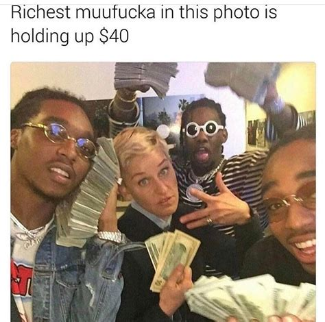 Migos Meme - ellen degeneres picture with migos february 2017