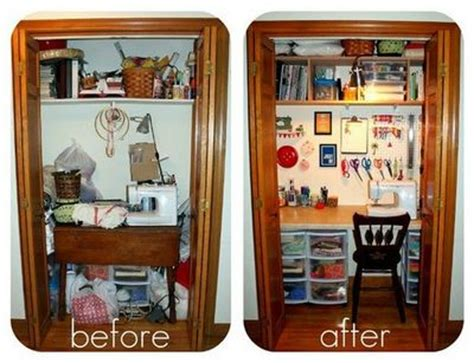 Closet Sewing Room by Closet Becomes Sewing Room Storage Ideas Juxtapost
