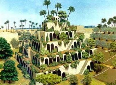 and the garden hanging gardens of babylon