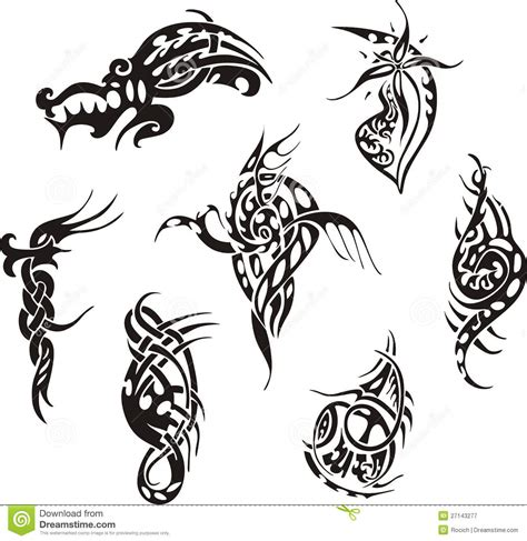 tribal lines tattoo designs tribal designs stock vector illustration of lines
