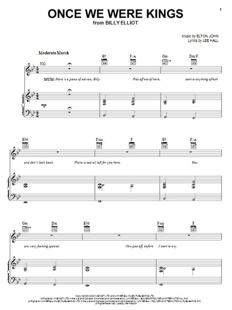we were swinging song once we were kings sheet music direct