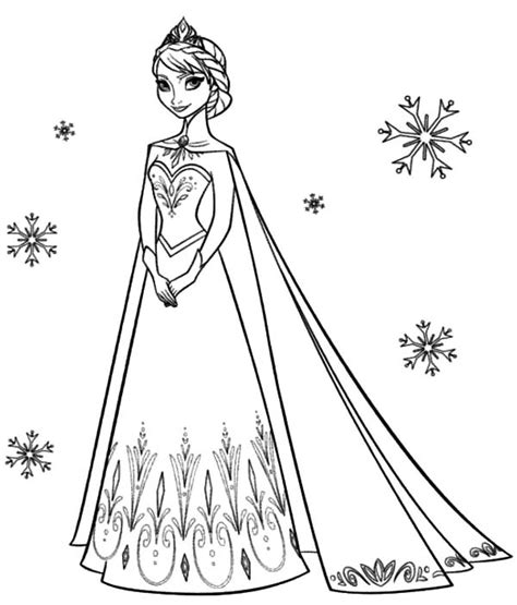 elsa coronation coloring pages disney frozen coloring pages to download