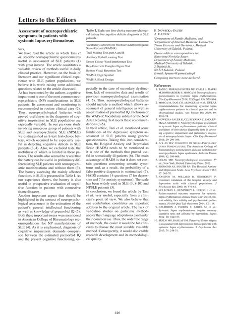 leiter r sle report sle neuropsychological report 28 images sle