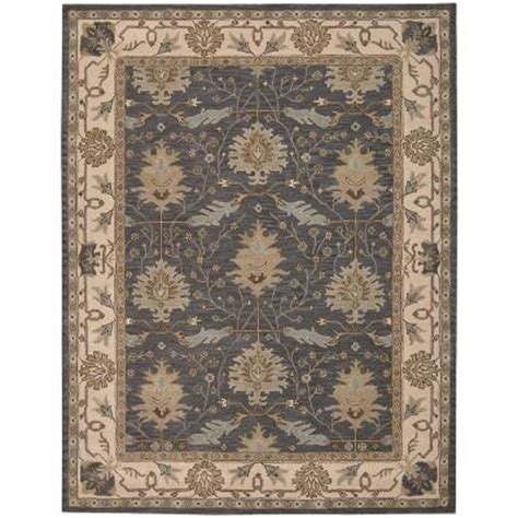 8x10 Area Rugs Home Depot Nourison Oasis Blue 8 Ft X 10 Ft 6 In Area Rug 002174 The Home Depot