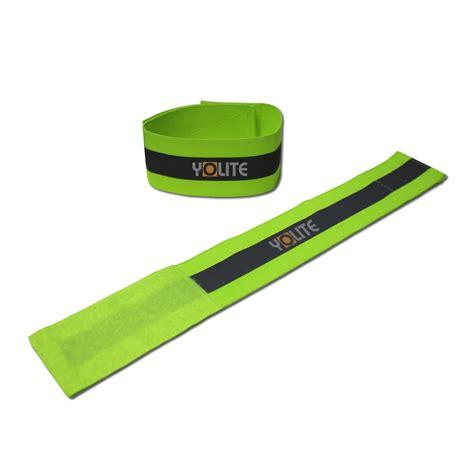 yellow reflective armband 5cm reflective armband sports