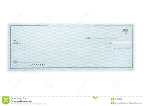 Marriott Background Check Blank Check Stock Photo Image 10476630
