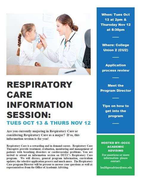 respiratory care information session to answer questions