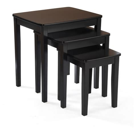 Black End Tables For Living Room 3 Pc Nesting End Table Set 236450 Living Room At Sportsman S Guide
