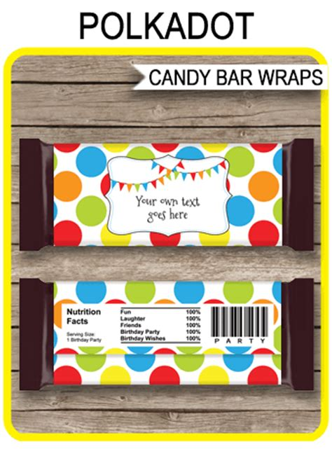 polkadot hershey candy bar wrappers personalized candy bars