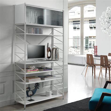 librerie metalliche componibili socrate 151 libreria scaffale per soggiorno in acciaio