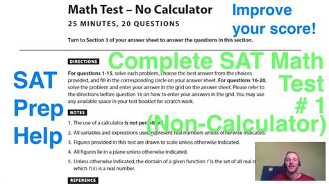 sat math section practice new sat official practice test 1 math section 3 non