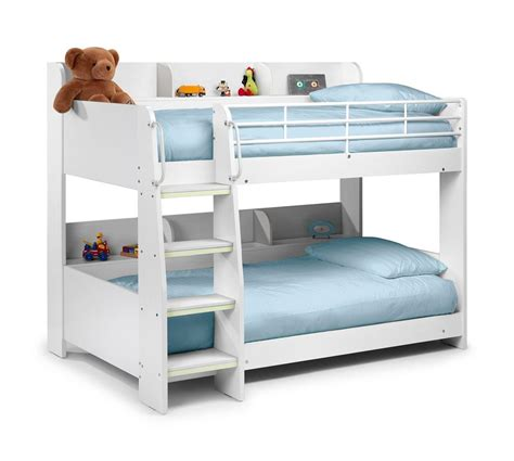 Happy Beds Domino Sleep Station Maple White Bunk Bed 2x Bunk Beds With Mattresses