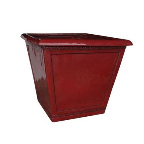 Saddle Planters by Southern Patio 17 5 In Dia Saddle Westhaven Ceramix Planter Hdp 020974 The Home Depot
