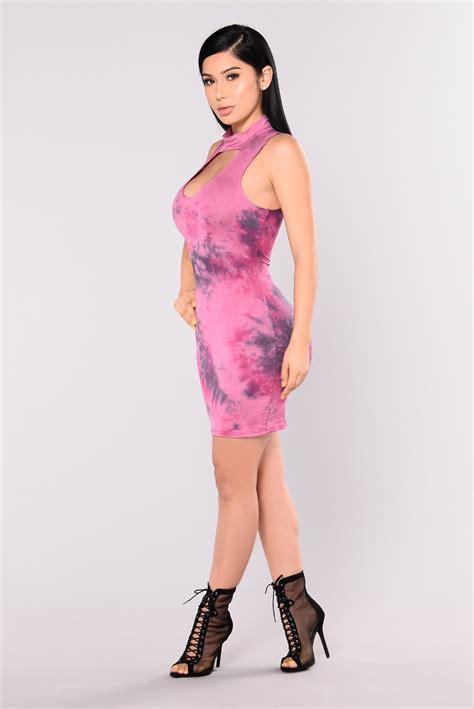 Marsha Dress marsha tie dye dress magenta