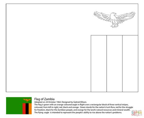 Flag Of Zambia Coloring Page Free Printable Coloring Pages Zambia Flag Coloring Page