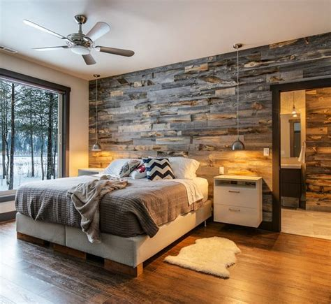 Country Chic Bedroom Ideas 30 wood accent walls to make every space cozier digsdigs