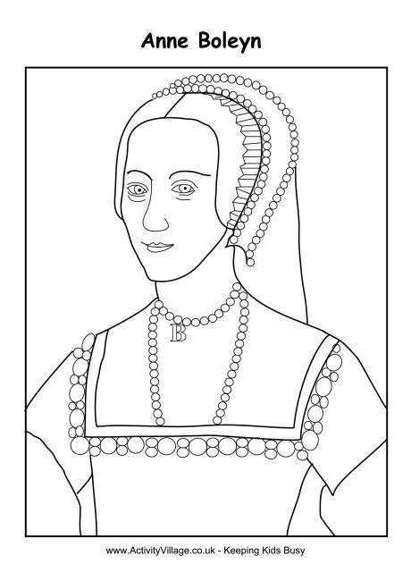 Anne boleyn colouring page