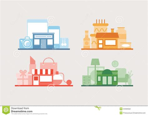 modern home design vector various vector store design collection stock vector