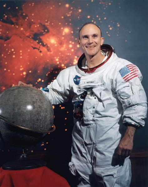 Ken Mattingly Astronaut by Nasa Apollo Astronaut Ken Mattingly Colour