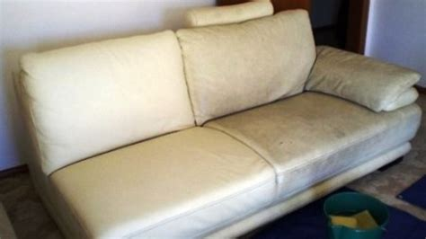 Cleaning A White Leather Sofa Waterschade Bankstel Abt Cleaning