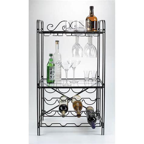 Floor Wine Rack Metal by Black Metal Wine Glass Storage Floor Wine Rack Overstock
