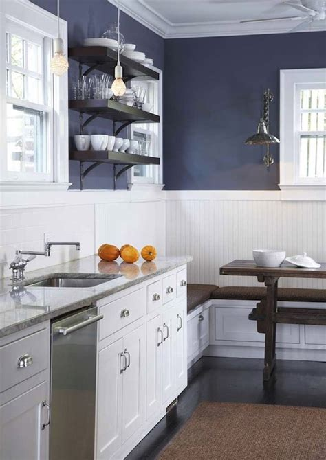 blue walls in kitchen beadboard kitchen walls contemporary kitchen