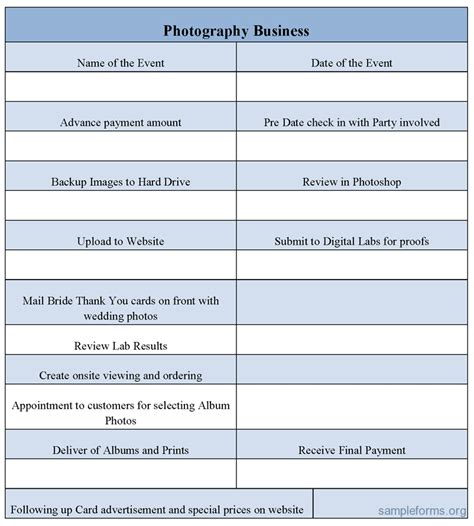 photography business forms templates photography business form sle photography business form sle forms
