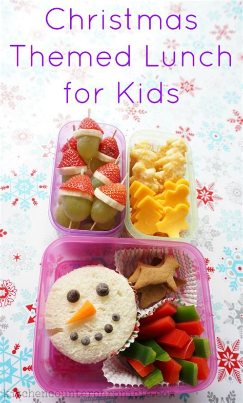 christmas themed lunch ideas for kids packed lunch boxes