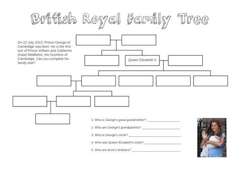 template for family tree uk family tree template royal family tree template