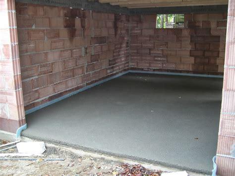 Baubericht Dachstrift Estrich In Der Garage