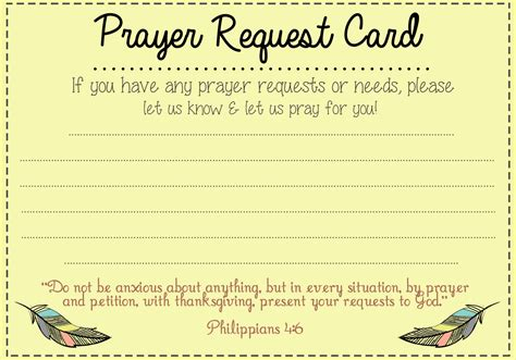 Prayer Request Cards 4x4 Template by Prayer Request Card Idea Mops Prayer