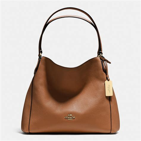 Coach Leather Bag by Handbag Coach Saddle Refined Pebble Leather Zip Top Closure Edie Shoulder Bag 31 Handbags Purses