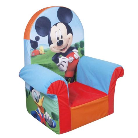 mickey mouse kids couch spin master marshmallow furniture high back chair mickey