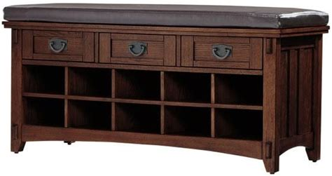 mission style bench with shoe storage artisan bench with shoe storage home decor
