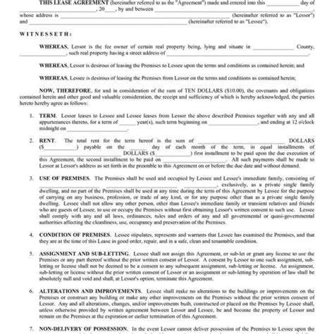 blank lease agreement california blank lease agreement template california residential