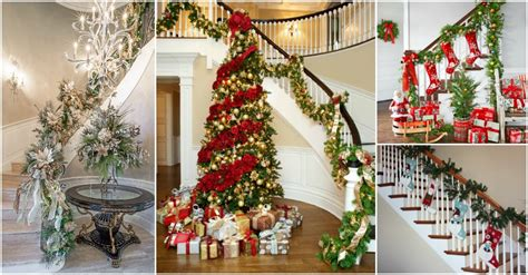 what do i need to decorate christmas wonderful staircase decorations you need to see