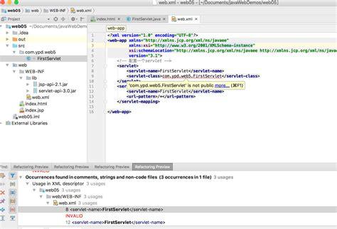 web xml java xxx is not public when config servlet in web xml