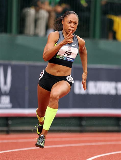 allyson felix body more pics of allyson felix ponytail 25 of 31 allyson