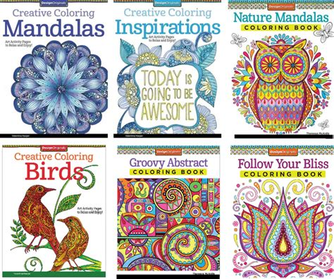 nature mandalas coloring book design originals design originals happy cers coloring book