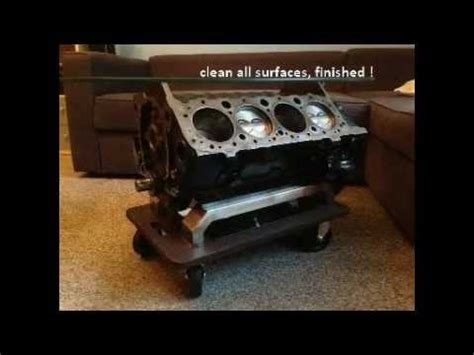 small block coffee table building an v8 engine block coffee table with no special