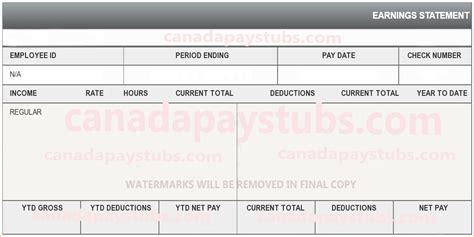 10 create a pay stub free online pay stub template