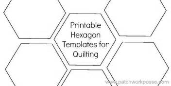 hexagons templates 1 1 2 quot hexagon by patchwork posse quilting pattern