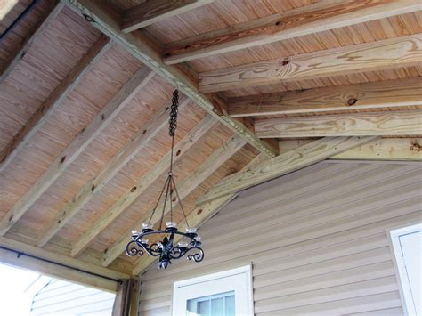 Rafter Ceiling by Interior Designs On Screen Porches So Many Choices
