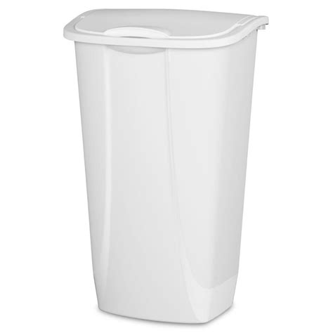 swing top trash can sterilite 11 gal white swing top trash can 10938006 the